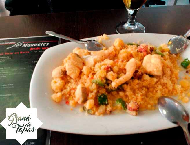 Tapa de Migas Restaurante Bar Los Manueles