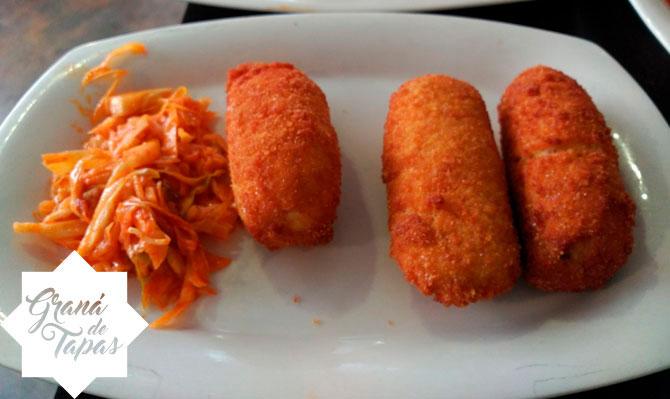 Ración de Croquetas Restaurante Bar Los Manueles