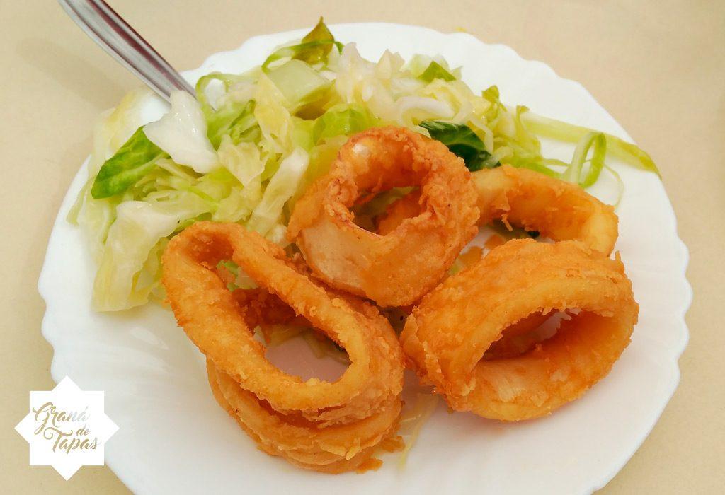 Calamares fritos en Bar El Arenal