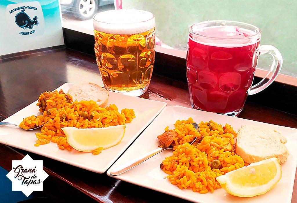 Jarras de 1/2 litro + tapas en Bar La Ballena Alegre